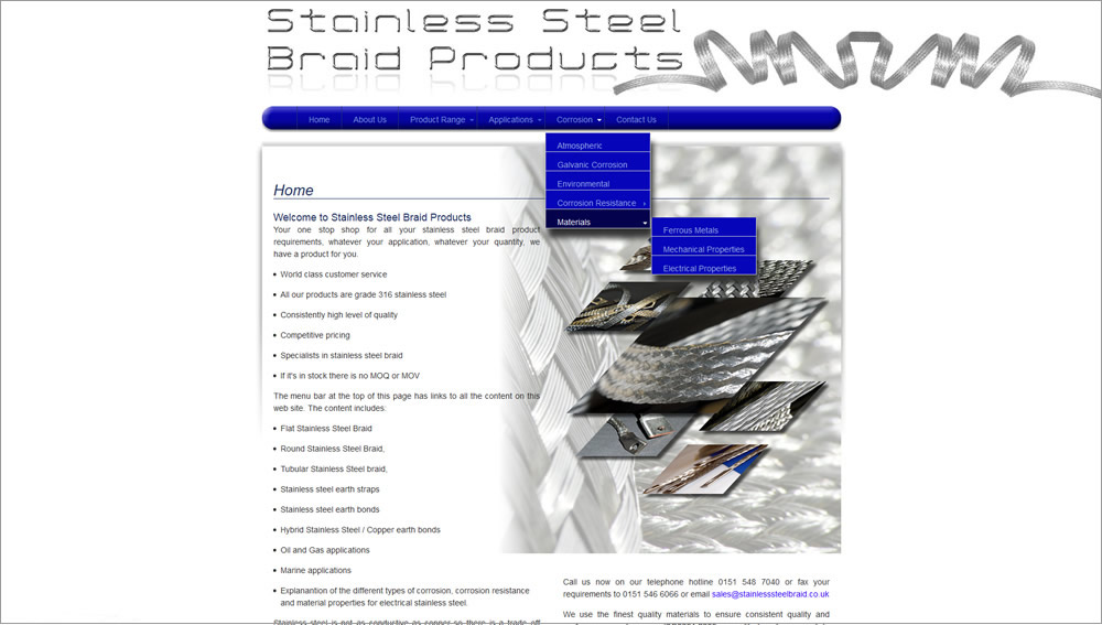 Stainless Steel Braid Products
